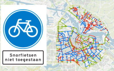 Snorfiets naar de rijbaan in Amsterdam begin 2019